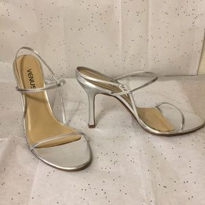 Venus Silver Strap Sandal Heel size 8.5